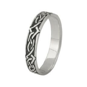 Celtic Knotwork Silver Band Ring 0765